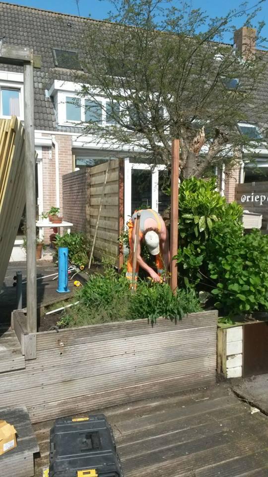 Tuin opnieuw laten bestraten Waverveen